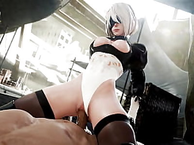 2B Riding A Cock And Enjoys It - (Nagoonimation)