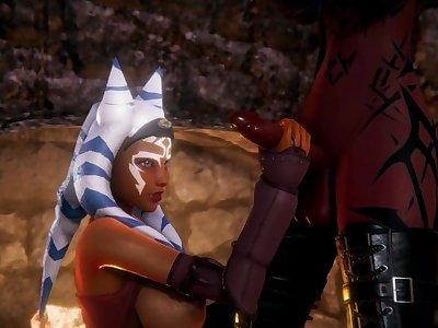 Futa Dark Sith fuck Ahsoka Tano [Futanari][3D]