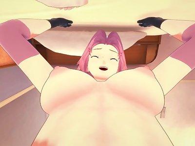 Naruto Shippuden: futa Sakura Haruno Taker POV