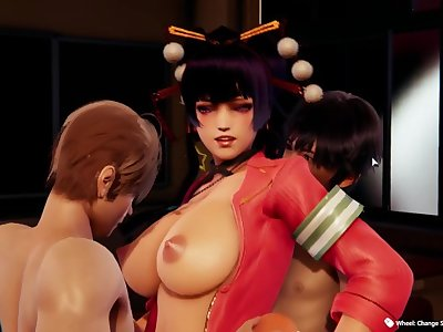 Honey Select 2:Passionate sex with female tengu in classroom