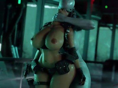 futa Tyrant fucks pregnant Jill Valentine resident evil 3dporn