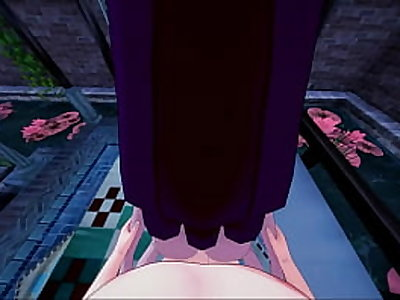 Megara getting fucked from your POV, gets side fucked until you cum in her pussy - Hercules Hentai.
