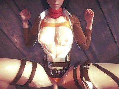 [ATTACK ON TITAN] POV You found Mikasa at the bar (3D PORN 60 FPS)