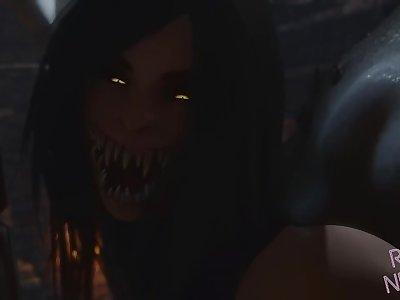 Mortal Kombat: Mileena x Lizard - Creampie 3d Hentai - by RashNemain