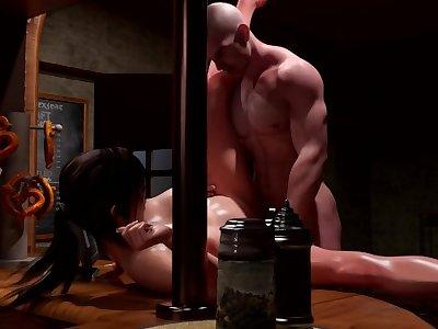 Lara Croft Gets Fucked In Bar! ■ Tomb Raider