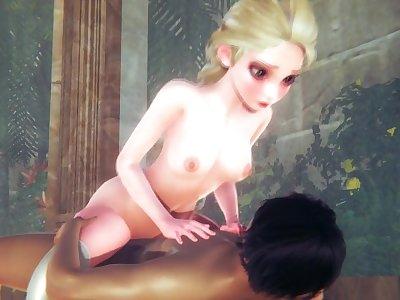 (3D Porn)(Frozen) Sex with Elsa