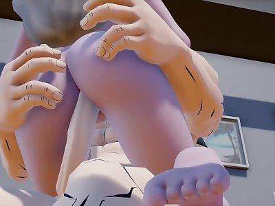 Frozen Elsa fuck Goku and suck his dick