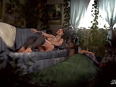 Ellie masturbating - (TLoU2 game) - Animated