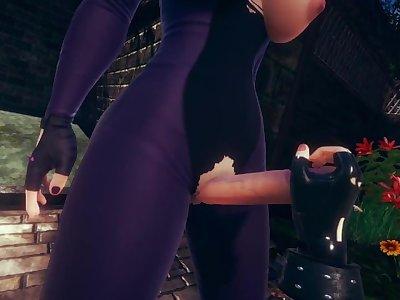 Taker POV Futa Juri Han penetrates Chun-Li(3D PORN) [Street Fighter]