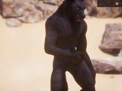 Wild Life / Male Furry's Jerking off Compilation HD / Werewolf,Tiger,Lion,Minotaur porn video