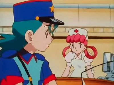 Officer Jenny gives Ash a blowjob