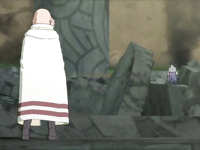Sasuke ripps Sakura and Karin