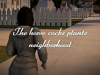 Miranda and Elizabeth taking care of horny cock plants