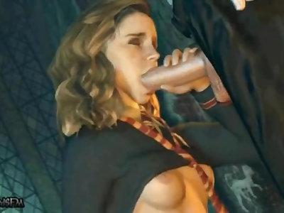 Hermione / Luna / Ginny / Parvati & Padma : Ultimate Animated Screw [ Hd Pmv Amv Blender ]