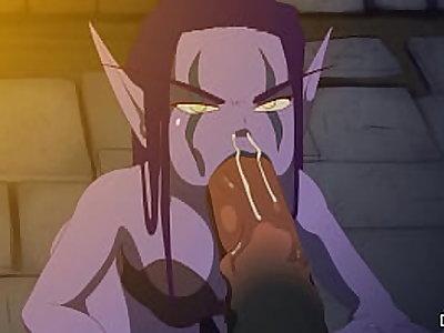 Elf Slave Cum In Throat By Deepstroke
