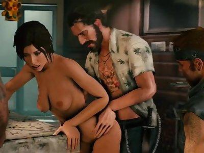 Lara Croft Bar Gang Bang [kawaiidetectiveenthusiast]