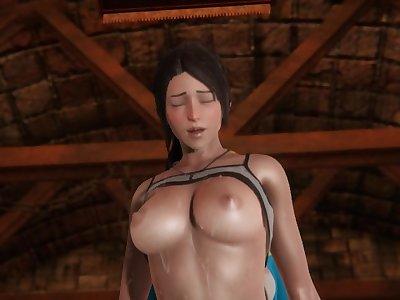 Futa - Zelda x Lara Croft - 3D Porn