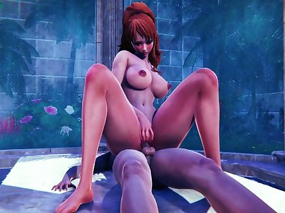 NAMI AND WET DICK / 3D HENTAI ONE PIECE
