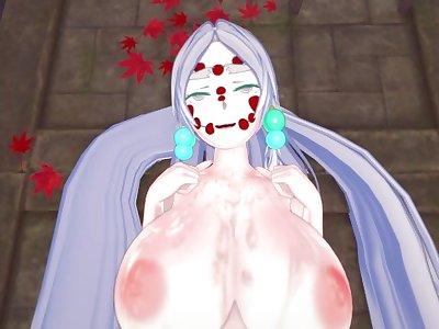 Demon Slayer - Futa Mitsuri fuck Spider Demon