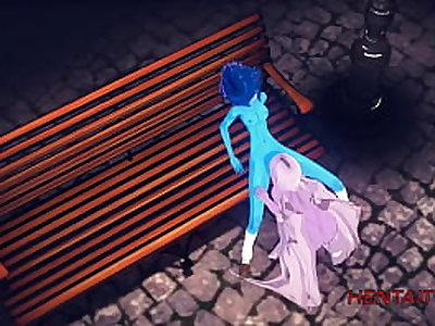 Steven Universe Hentai Yuri 3D - Amatist cunnilingus Lapislazuli and she squirt - Anime Manga Porn Lesbian Cartoon Sex