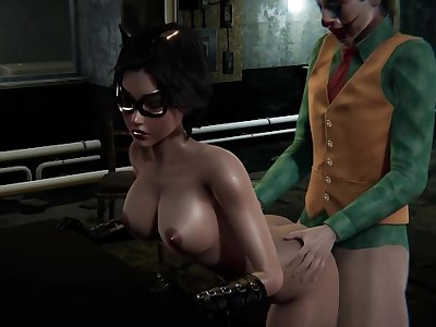 [HS2] Catwoman X Joker having fun in basement
