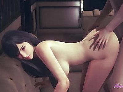Final Fantasy Hentai VII - He make Tifa's pussy enjoy until they cum on it