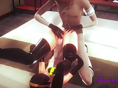 Incredibles Hentai 3D - Violet blowjob and fucked with creampie in her pussy - Cartoon Hentai Manga Japanese Porn
