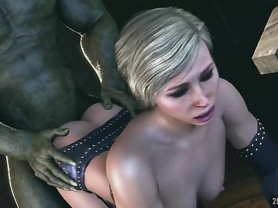 Cassie cage from mortal kombat fucked by 3d mosnster