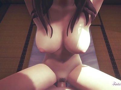 Attack on Titans Hentai - Pieck Finger boobjob & Fucked