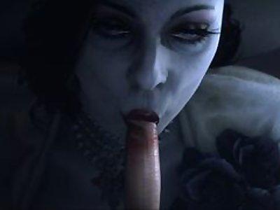 Lady Dimitrescu Blowjob [GreatM8]
