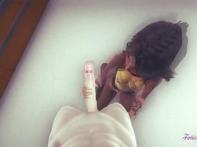 Disnei Raya Hentai 3D - Рая дрочит, делает минет и трахается в видео от первого лица