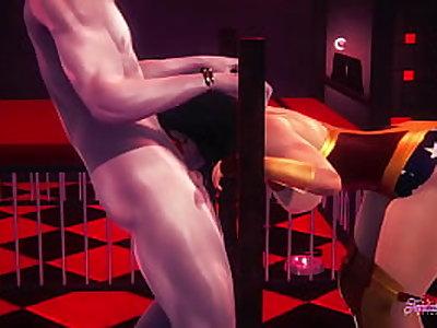 Wonderwoman Hentai - Wonderwoman is caught, suck and get fucked - Japanese manga anime porn