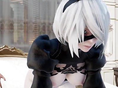 【MMD R-18 SEX DANCE】NIER AUTOMATA TASTY SEX WHITE ASS HOT セクシーな性的フレーバー [MMD]