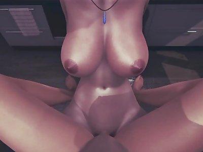 Resident Evil 3 remake futa Jill Valentine Taker POV Sex in the kitchen