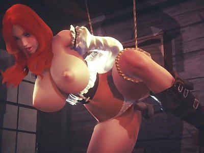 [LEAGUE OF LEGENDS] Miss Fortune tied up at the bar (3D PORN 60 FPS)