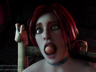 Triss Meriglod masturbate in self-bondage and gag (TheRopeDude)