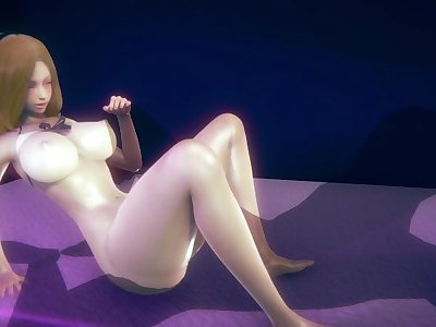 [LEAGUE OF LEGENDS] Horny Lux in her swimsuit (3D HENTAI 60 FPS)