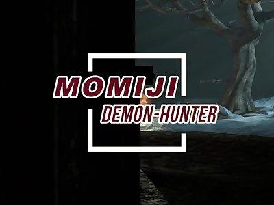 【MMD R-18 SEX DANCE】MOMIJI DEMON HUNTER HOT BIG ASS INTENSE FUCKED 激しいセックス [MMD]