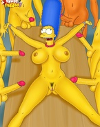 Super-stacked Turanga Leela and Marge Simpson getting shagged like total sluts