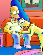 Marge Simpson cherishes spontaneous fuck and that means that this babe is willing to please Homer Simpson with a loony oral job action while watching sex TV channel
