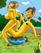 It was a sunny day and Seymour Skinner and Edna decided to have a fun a bit privacy and to have a fun several wild sex moments but that fantasy did not come true