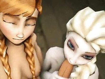 frozen cartoon porn pics