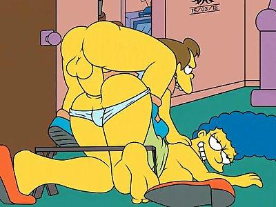803963  Jester Marge Simpson Nelson Muntz The Hentai