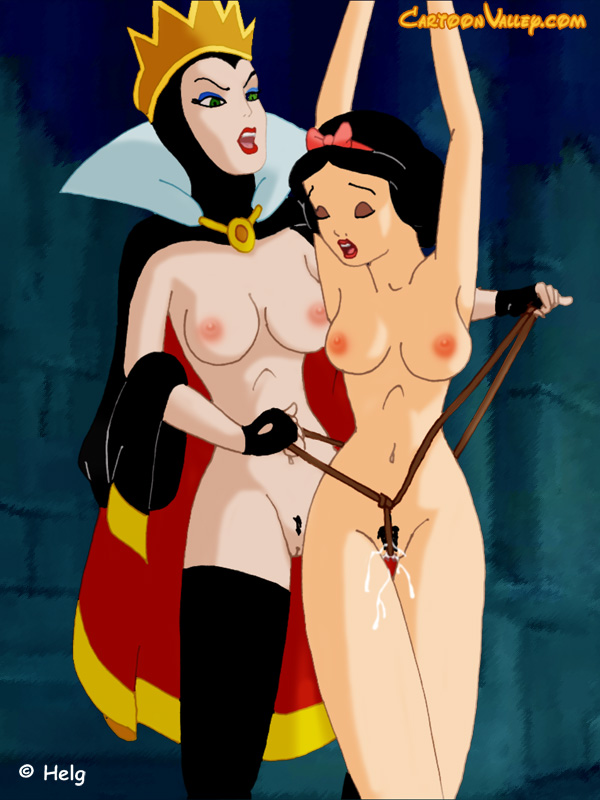 Sexy snow white having sex with well