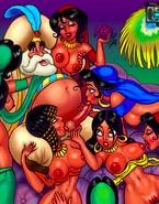 Princess Jasmine and other ethnic toon hotties getting naughty