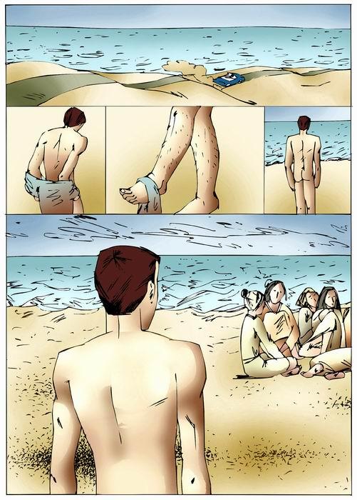 Nude beach sex cartoons