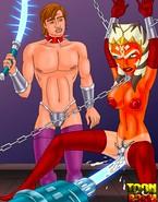 Kinky porn Star Wars Master invents new ways to punish chained up slavegirl Ahsoka