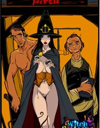 Stacked witch giving sloppy blowjob
