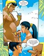 Shemale bikini girl drills a muscleman