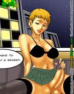Sexy futa cyborg gives a good blowjob to young Japanese futa model Hana and fuck her hard